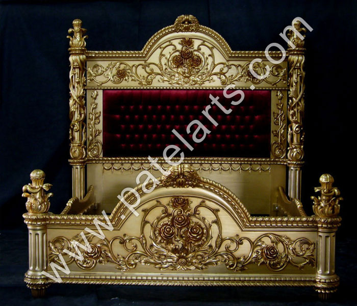 Light Hand Carved King Size Bed, Heavily Hand Carved Teak Wood King Size Bed, Heavily Hand Carved King Size Bed, King Size Carved Bed With Mirror In The Head Board, King Size Bed In Modern Design and Teak Wood King Size Bed In Modern Design, supplires, udaipur, india