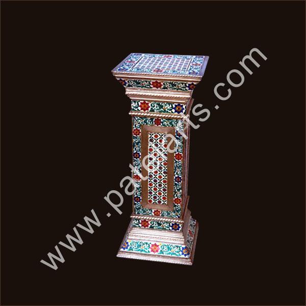 Antique wooden chairs - Antique Golden Minakari Work Meenakari Chowki Handicraft Minakari