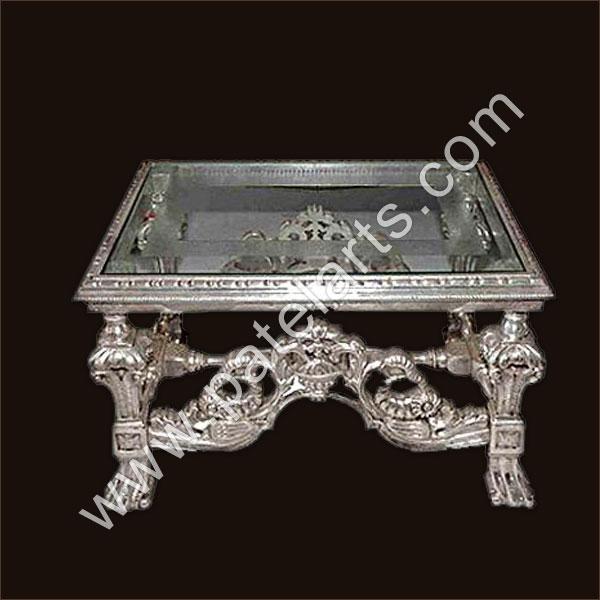 Silver Center Table, Silver Tables, Center Tables, Silver