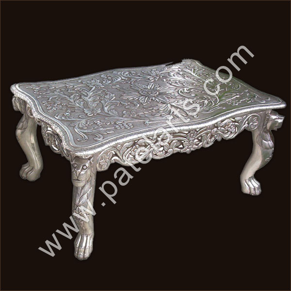 Silver Center Table, Silver Tables, Center Tables, Silver Coffee Tables, Manufacturers, India, Silver center tables, silver side tables, Silver Stands, Exporters, India, Royal Silver Center Tables, Chairs, Silver Furniture, Designer Furnitures, Suppliers, Udaipur, Rajasthan, India