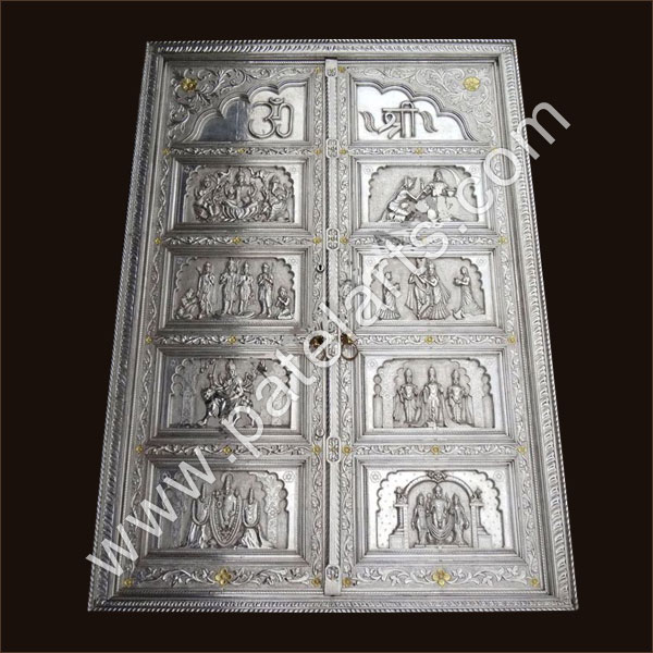 Silver Door, White Metal Doors, Silver Doors, Contemporary Silver Doors, Furniture, Manufacturers, India, Traditional Silver Doors, Indian Traditional Doors, Silver Carved Doors, Carved Silver Doors, Exporters, India, Decorative Doors, Silver Furniture, wooden Carved doors Silver Furniture, Suppliers, udaipur, rajasthan, india