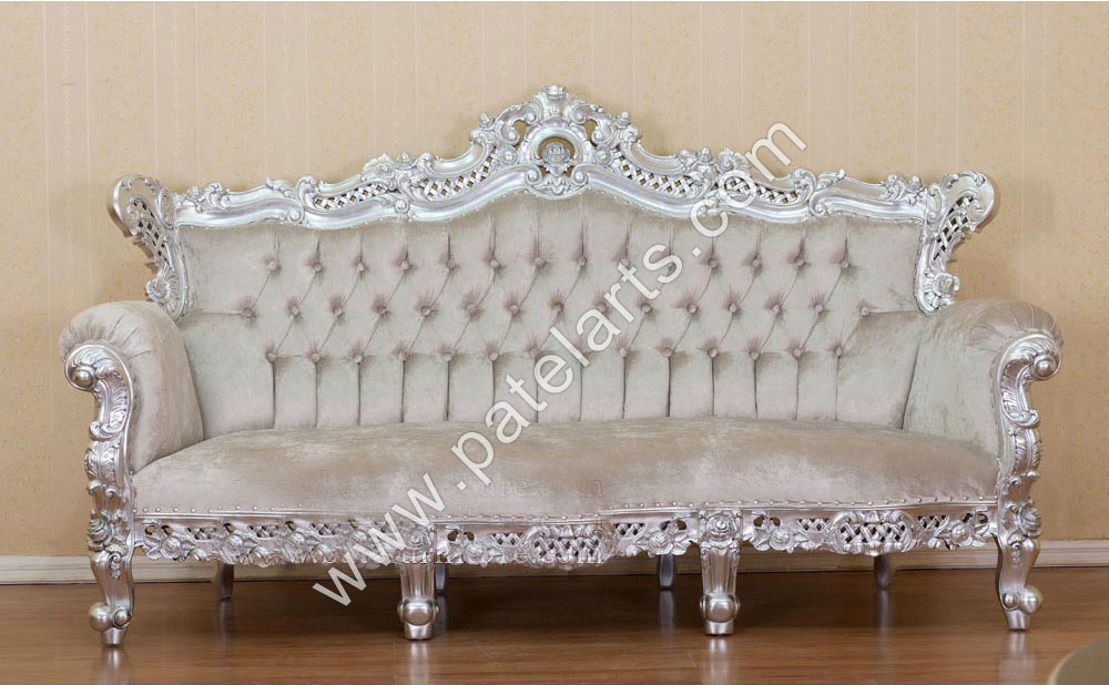 Silver Sofa Set, Silver Sofa Set Manufacturers, India, Silver Sofa Set Exporters, India, Royal Silver Sofa Set, Antique Silver Sofa Set, Suppliers, India