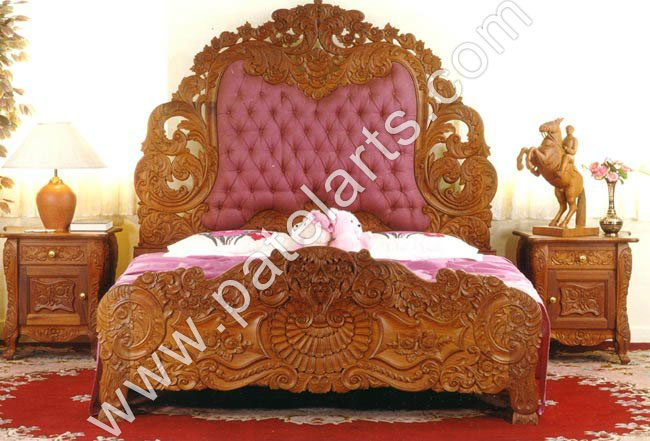 Designer Wooden Beds, Designer Bedroom Furniture, Wooden Bed, Beds, Carved Wooden Beds, carved Indian Beds, Manufacturers, India