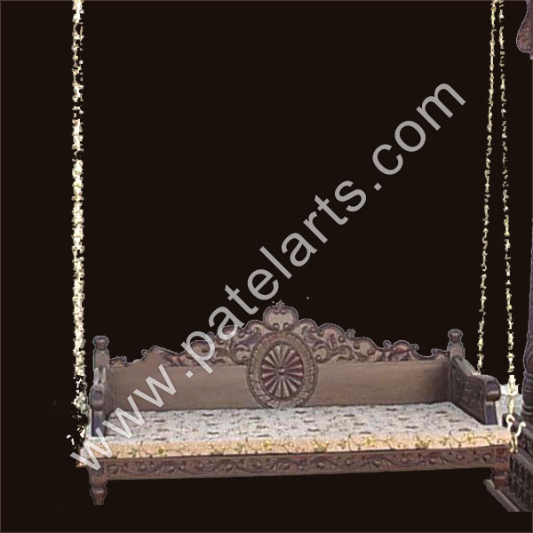 wooden hand carved swing, manufacturers, carved wooden swing, carving furniture ,Exporters wooden deep carved swing, Udaipur, rajasthan, india