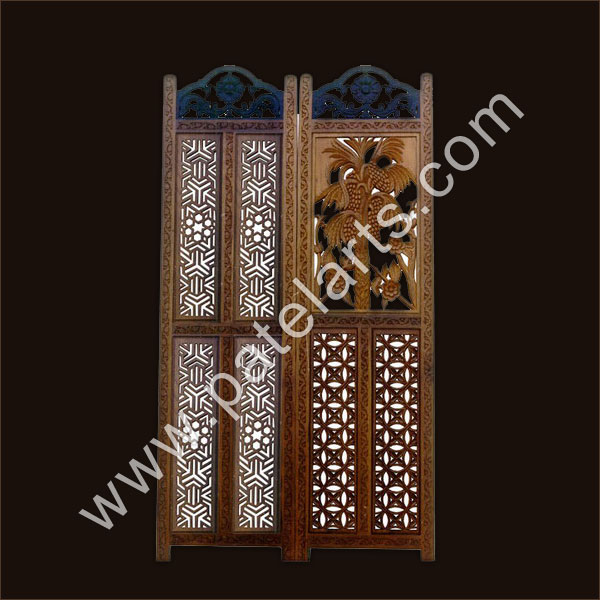 Wooden Screen, Carved Screens, Jali, Traditional Indian Wooden Screen, Jali, Panel Screen, Manufacturers, India, Wood Room Divider Screen, wooden Indian, Room Dividers, Handcrafted Wooden room divider screens, screens, Jali Screens, Wooden Jali, Exporters, India, Marwari Design Wooden Jali