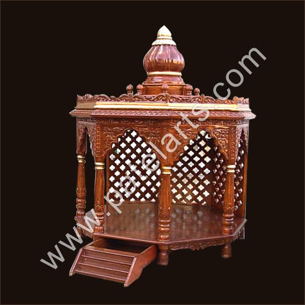 Wooden Carved Teakwood Temple Mandir Wooden Temple Wooden Temple Mandir Home Indian Design